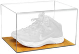Basketball Shoe Display Case with Wood Floor<br> <sub> For NBA, NCAA