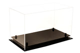 Deluxe Clear Acrylic Large Shoe Display Case for Basketball Shoes Soccer Cleats Football Cleats with Risers (A013)<br> <sub> For NBA, NCAA, and more </sub>, Display Case, Better Display Cases, Better Display Cases - Better Display Cases