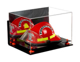 Deluxe Acrylic Fireman's Helmet Large Display Case with UV Protection with Mirror and Wall Mount, Display Case, Better Display Cases, Better Display Cases - Better Display Cases