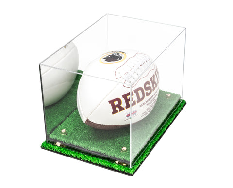 Deluxe Acrylic Football Display Case with Mirror, Risers and Turf Base (A004-MRTB), Display Case, Better Display Cases, Better Display Cases - Better Display Cases