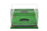 Deluxe Acrylic Football Display Case with Mirror, Risers and Turf Base (A004-MRTB)