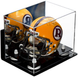 Wall Mounted Mini - Miniature Football Helmet Display Case