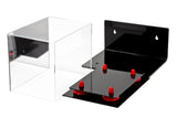 Mini Football Helmet Display Case (not full size) - Better Display Cases - Clear Acrylic Plexiglass with Wall Mount, Mirror and Risers (A003) <br> <sub> NFL, NCAA, and more! </sub>, Display Case, Better Display Cases, Better Display Cases - Better Display Cases
