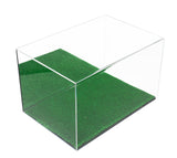 Full Size Rugby Ball <br>Display Case with<br> Green Turf Bottom<br><sub>(Clear or Mirrored)<br> PRO, NCAA, and more!, Display Case, Better Display Cases, Better Display Cases - Better Display Cases