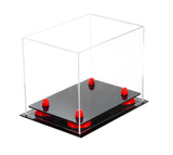 Mini Football Helmet <br> Display Case (not full size) - Better Display Cases - Clear Acrylic Plexiglass <br> with Risers (A003) <br> <sub> NFL, NCAA, and more! </sub>, Display Case, Better Display Cases, Better Display Cases - Better Display Cases