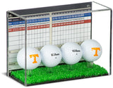 Acrylic Golf Ball Display Case with Turf Base