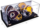 Double Mini Football <br> Helmet Wall-Mount <br> Mirrored Display Case <br><sub>NFL, NCAA, and More!</sub> - Better Display Cases - 4