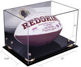 Full Sized Football <br> Display Case <br> With Mirror<br> <sub> NFL, NCAA, and more! </sub> - Better Display Cases - 3
