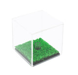 Deluxe Acrylic Full Size Golf Ball Display Case with Turf Floor with UV Protection (A046-TB), Display Case, Better Display Cases, Better Display Cases - Better Display Cases
