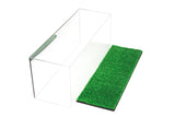 "Versatile Deluxe Acrylic Display Case - Large Rectangle Box with Turf Bottom 17"" x 6"" x 7"" (A019-TB), Display Case, Better Display Cases, Better Display Cases - Better Display Cases"