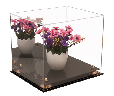 "Medium Display Case<br> with Mirrored <br><sub>12.25"" x 10"" x 10.5"" (A012), Display Case, Better Display Cases, Better Display Cases - Better Display Cases"