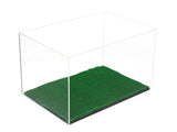 "Versatile Deluxe Acrylic Display Case Medium Rectangle Box<br>with Turf Bottom <br><sub>12"" x 8.25"" x 7.25"" (A018-TB), Display Case, Better Display Cases, Better Display Cases - Better Display Cases"