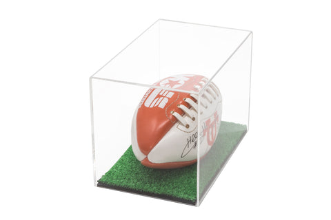 "Versatile Deluxe Acrylic Display Case<br>Small Rectangle Box with with Turf Bottom<br><sub>9.5"" x 6"" x 6.5"" (A005-TB)</sub>, Shipping, Better Display Cases, Better Display Cases - Better Display Cases"