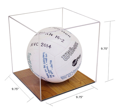 Volleyball Display Case <br> With Wood Floor - Better Display Cases - 2
