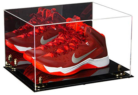 Deluxe Acrylic Basketball Shoe Pair Display Case with Mirror and Risers (A082), Display Case, Better Display Cases, Better Display Cases - Better Display Cases