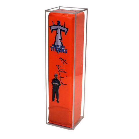 "Deluxe Clear Acrylic Display Case for<br>Football End Zone Pylon<br><sub>4.875"" x 4.875"" x 18.5"" (A021-CB-TT)"