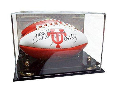 MINI - Miniature (not full size) Football<br> Mirrored Display Case <br><sub> NCAA, NBA, and More! </sub>, Display Case, Better Display Cases, Better Display Cases - Better Display Cases