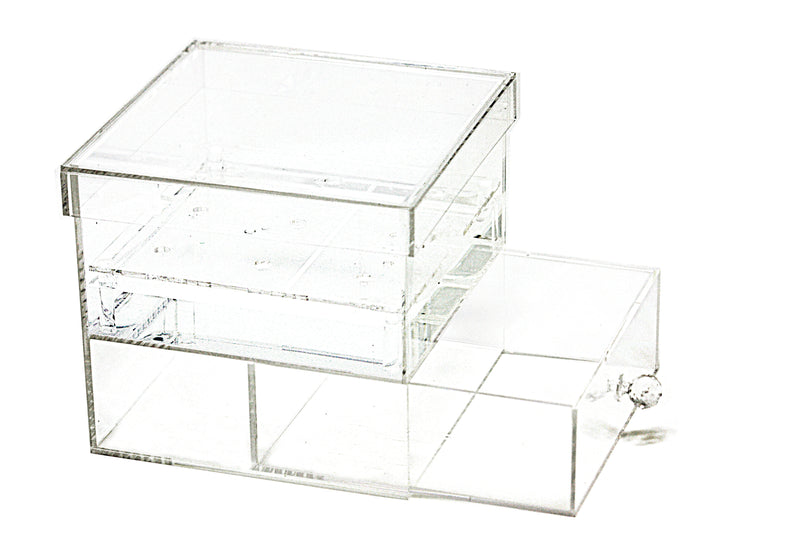 Deluxe Clear Acrylic Multi Purpose Cosmetic Organizer for All of Your Cosmetics, Jewelries, Lipstick, Nail Polishes, Mani-Pedi etc. (A053-A)