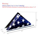 Deluxe Acrylic American Flag Memorabilia Display Case<br><sub>for Small 2' x 3' or 3' x 5' Flag</sub>