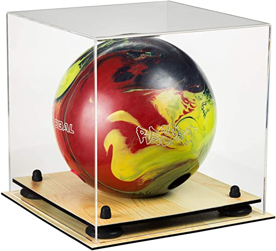 Acrylic Bowling Ball Display Case with Risers