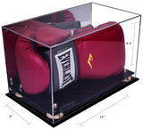 Acrylic Boxing Glove Horizontal Display Case with Black Base A011/V16
