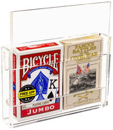 Acrylic Wall-Mounted Easy Access Double Card Deck Case (A100)