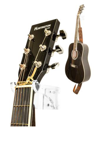 Deluxe Clear Acrylic Guitar Hanger/Hook/Holder Wall Mount Bracket <br><sub>for Acoustic or Electric Guitars (A063-G), Display Case, Better Display Cases, Better Display Cases - Better Display Cases