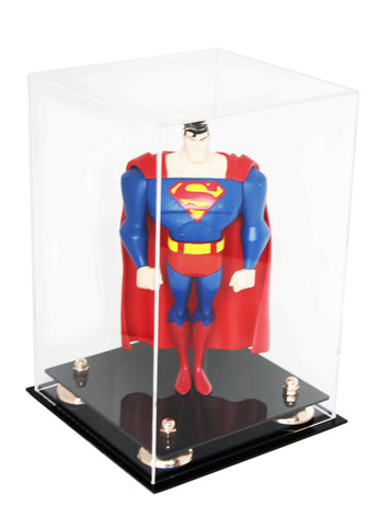 "Versatile Deluxe Clear Acrylic Display Case<br>Medium Rectangle Box with Risers<br><sub> 8"" x 8"" x 12"" (A060), Display Case, Better Display Cases, Better Display Cases - Better Display Cases"