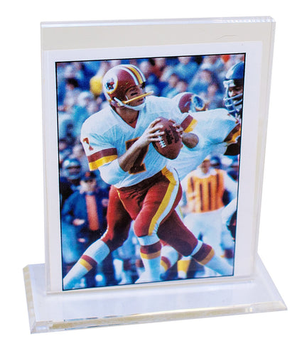 Trading Card Display Stand<br>Clear Acrylic<br> <sub> For MLB, NCAA, NFL, and more </sub>