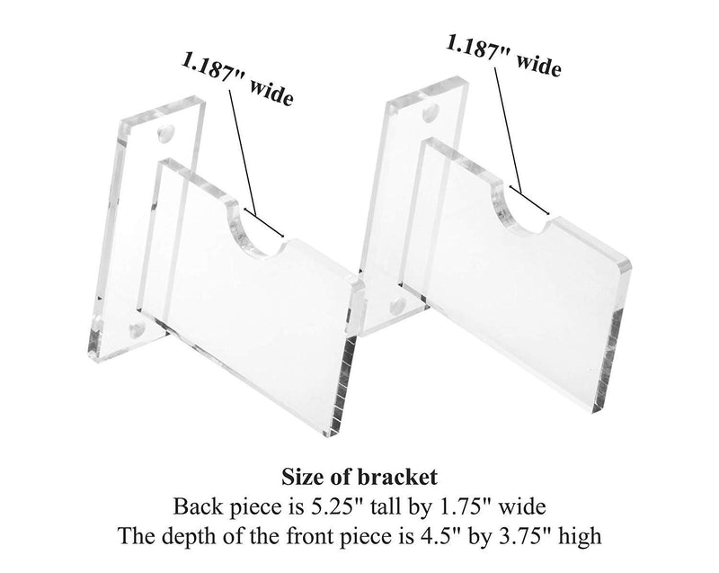 Deluxe Clear Acrylic Archery Bow Wall Mount Bracket (A023-AB-SS)