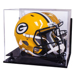 Football Helmet <br>Mirrored Display Case<br> Wall Mount  <br> <sub> NFL, NCAA, and more! </sub>