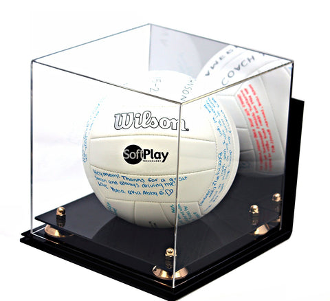 Deluxe Acrylic Volleyball Display Case with Risers, Mirror and Wall Mount (A027), , Better Display Cases, Better Display Cases - Better Display Cases