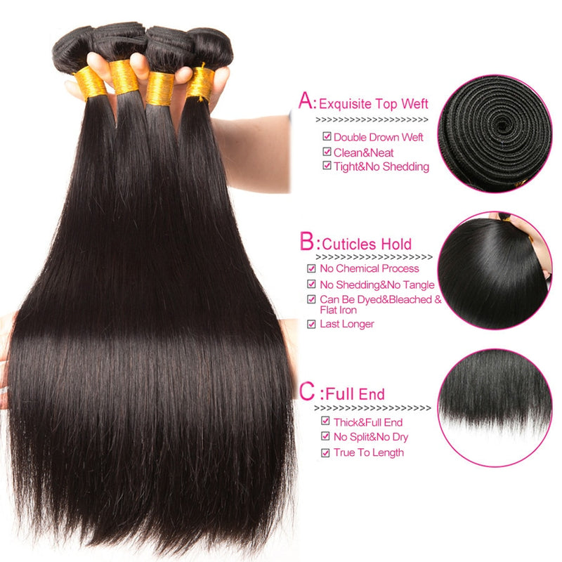 Indian Natural Black Hair Extensions Beyo Remy Hair