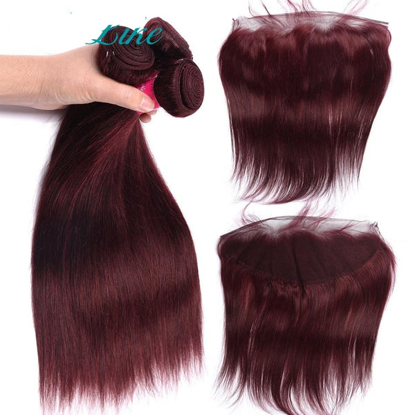 Indian Non-Remy Burgundy Hair Weave