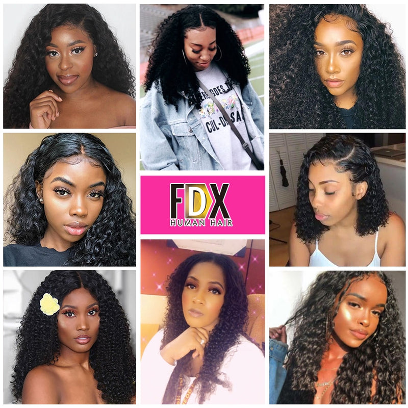 FDX 30 32 34 36 inch Kinky Curly Hair