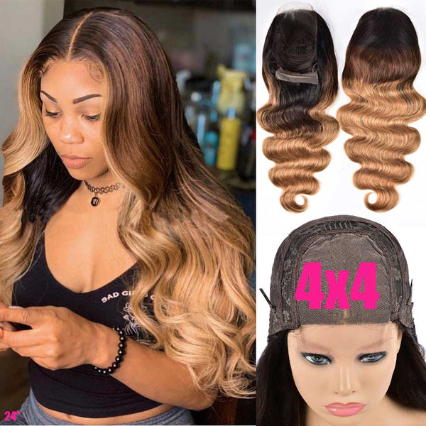 4x4 Ombre Brazilian Body Wave