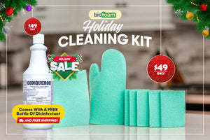 BioFoam Holiday Special - Mitt, Sponges, Wipes, Disinfectant