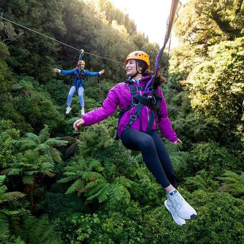 Ziplining in Rotorua on Mothers Day is a gift shell love
