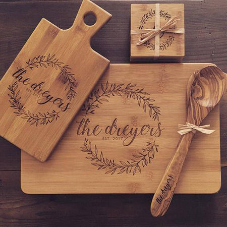 Engraved personalised wooden gift nz
