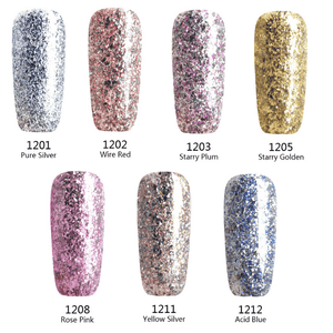 Glitter Gel Nail Polish - Set of 7