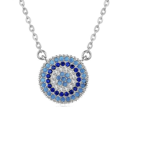 Sterling Silver Pendant Evil Eye