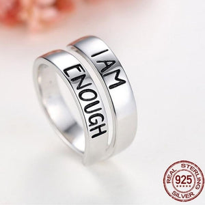 Sterling Silver Rings I AM ENOUGH