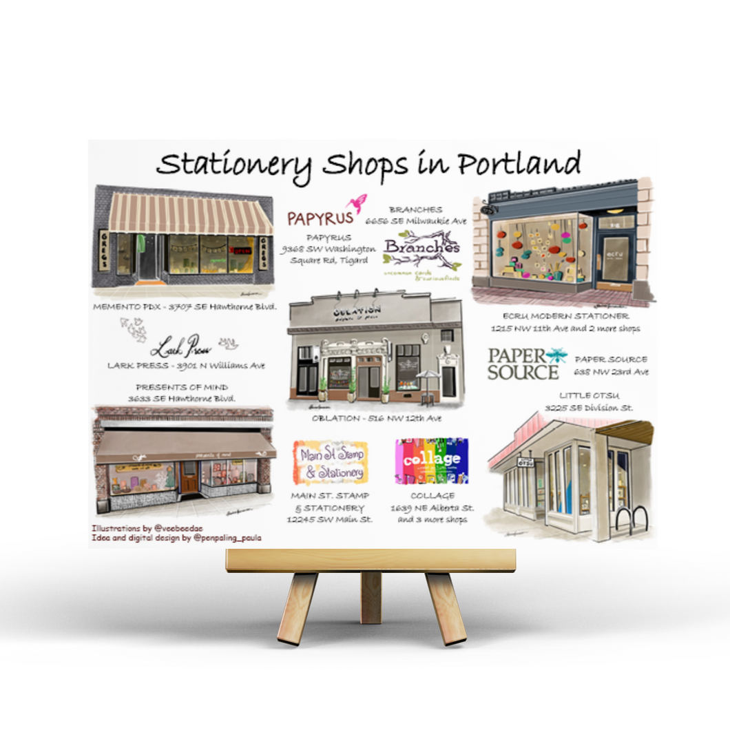 Stationery Shops in Portland - Postcard