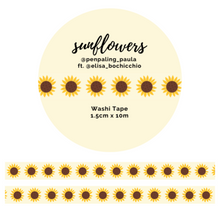 Load image into Gallery viewer, OOPSIE - Sunflowers - Washi Tape