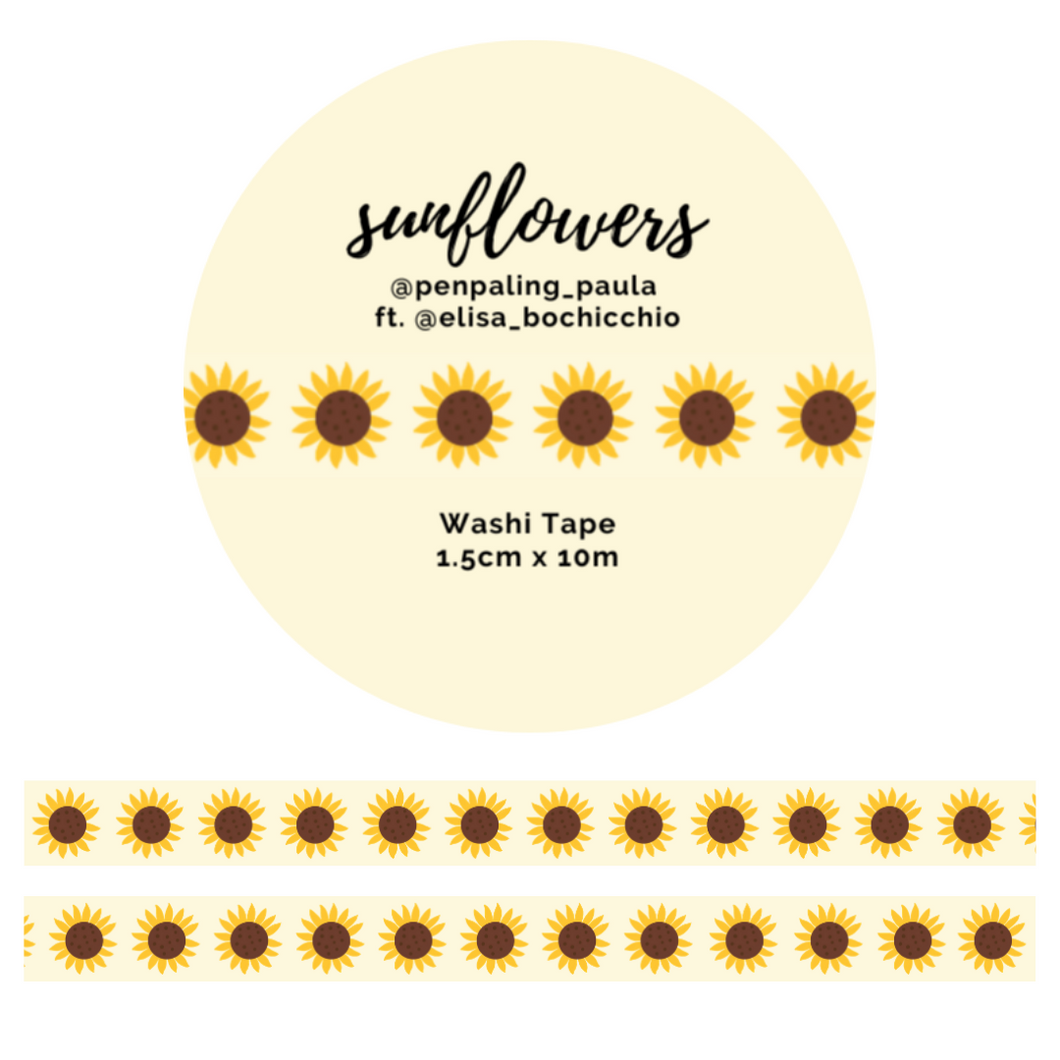 OOPSIE - Sunflowers - Washi Tape
