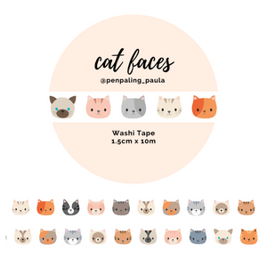 Cat Faces - Washi Tape