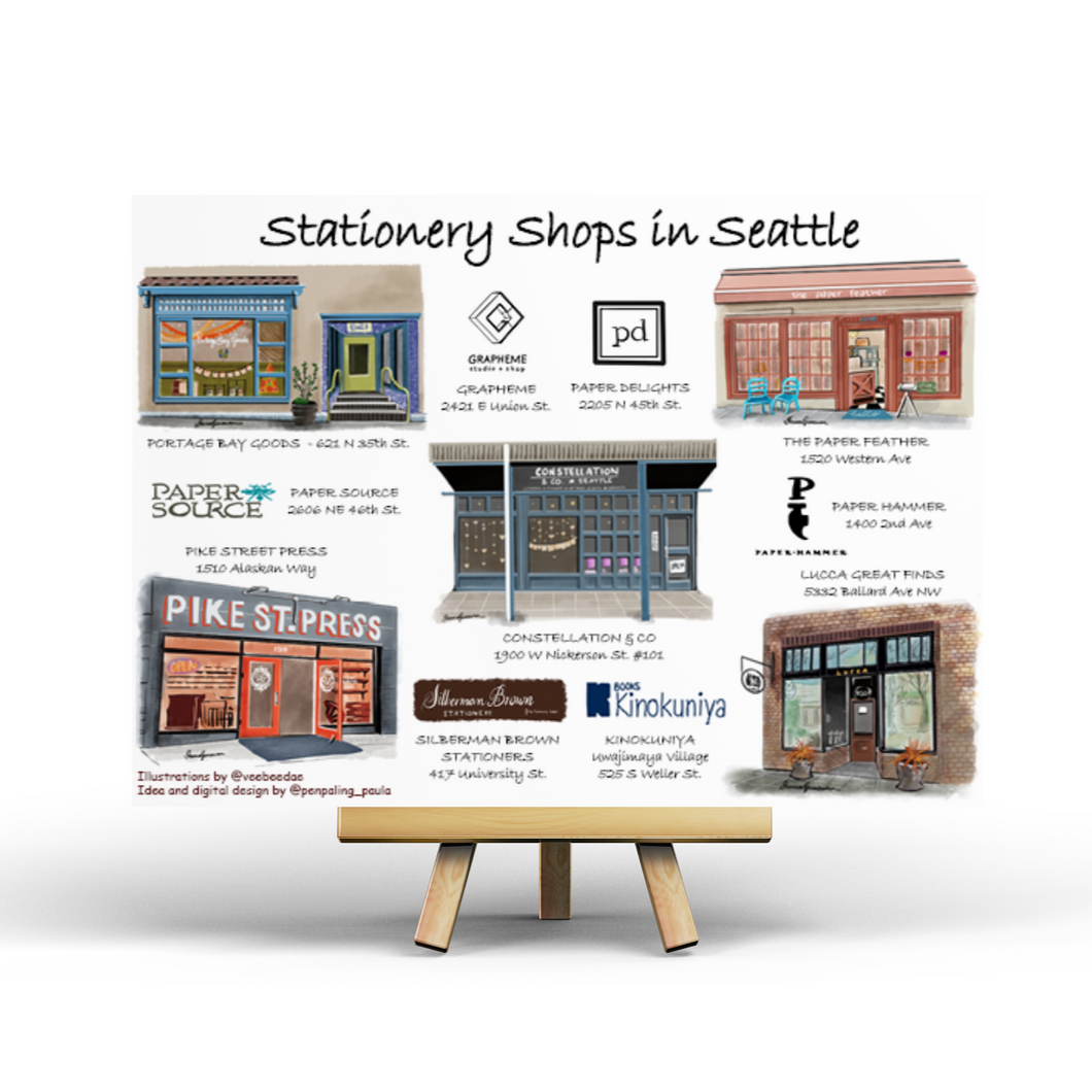 Stationery Shops in Seattle - Postcard