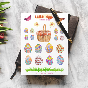 Easter Eggs - Sticker Sheet