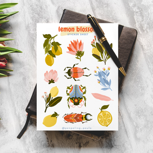 Lemon Blossom - Sticker Sheet