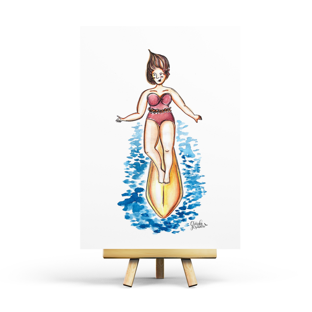 Sandy Summer - Surf - Postcard